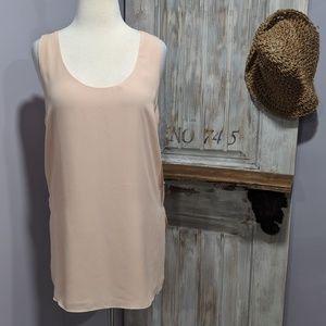 Zara sheer layered blush tank